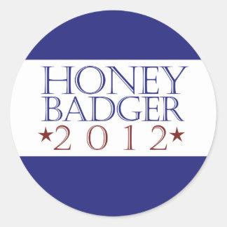 Honey Badger 2012 Round Sticker