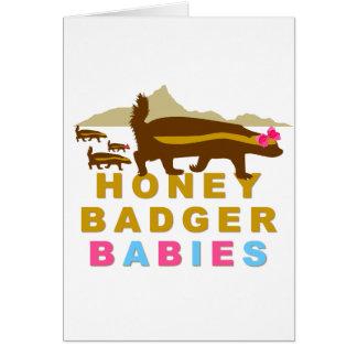 honey badger babies card
