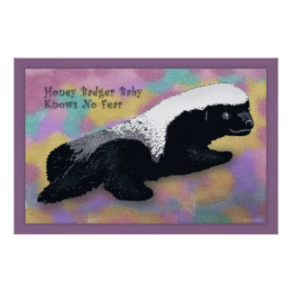 Honey Badger Baby Poster -60x40 -or smaller