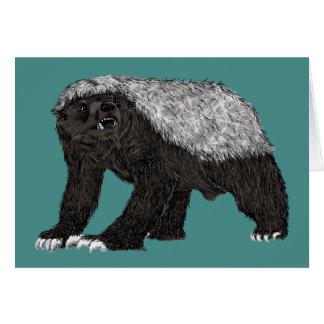 Honey Badger Baring his Teeth Card