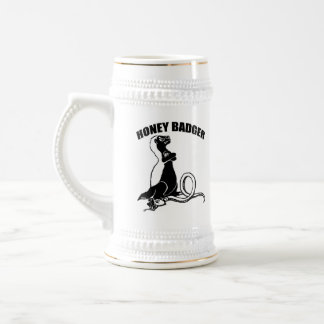 Honey badger beer stein