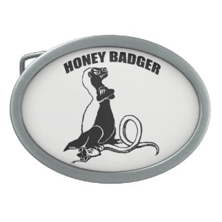 Honey badger belt buckle
