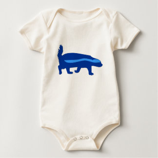 honey badger blue baby bodysuit