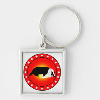 Honey Badger Bride with Veil Keychain