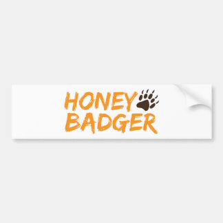 Honey Badger Bumper Sticker
