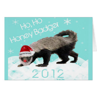 Image gallery honey badger christmas for Badger christmas decoration