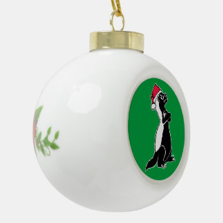 Honey badger Christmas Ceramic Ball Christmas Ornament
