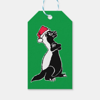 Honey badger Christmas Gift Tags