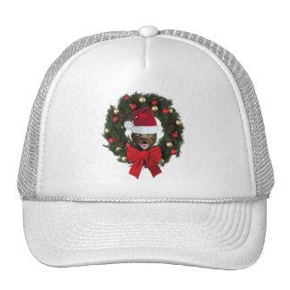 Honey Badger Christmas Wreath Hat