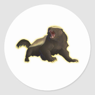 Honey Badger Classic Round Sticker
