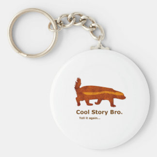 Honey Badger - Cool Story Bro. Tell it again... Basic Round Button Keychain