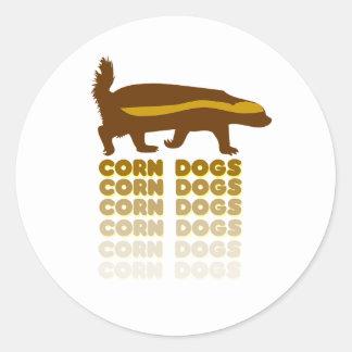 Honey Badger Corn Dogs Round Sticker