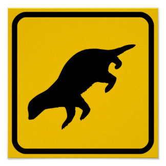Honey Badger Crossing Sign