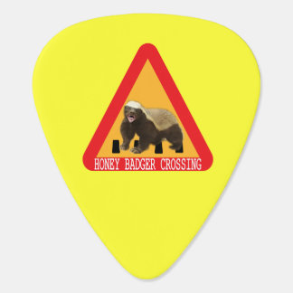 Honey Badger Crossing Sign - Yellow Background Pick
