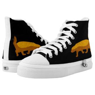 HONEY BADGER Custom Zipz High Top Shoes