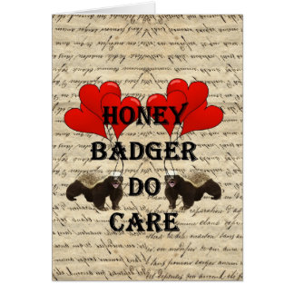 Honey badger do care card