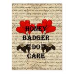 Honey badger do care post card