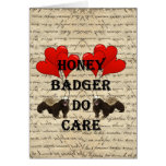 Honey badger do care stationery note card