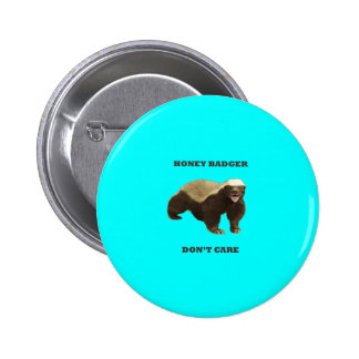 Honey Badger Don t Care On Aquamarine Turquoise Buttons