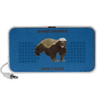 Honey Badger Don't Care. Crayon Blue Pattern Mp3 Speakers