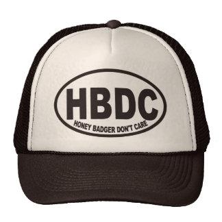 Honey Badger Don't Care HBDC Hat