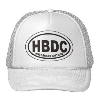 Honey Badger Don't Care HBDC Label Hat