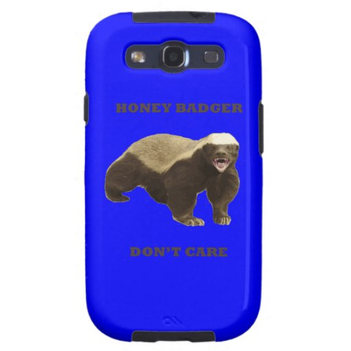 Honey Badger Don't Care On Dark Blue Background Galaxy SIII Covers