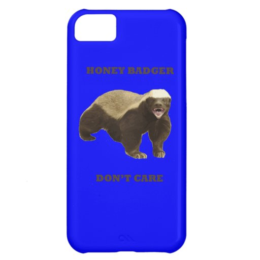 Honey Badger Don't Care On Dark Blue Background iPhone 5C Cover