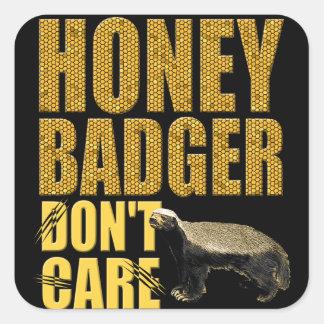 Honey Badger Don't Care Sticker