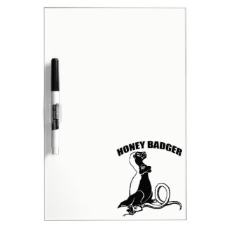 Honey badger dry erase board