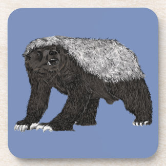 Honey Badger Fearless With Attitude Animal Design Coaster