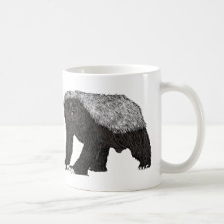 Honey Badger Fearless With Attitude Animal Design Coffee Mug