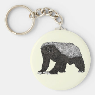 Honey Badger Fearless With Attitude Animal Design Keychain