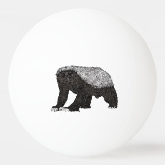 Honey Badger Fearless With Attitude Animal Design Ping Pong Ball