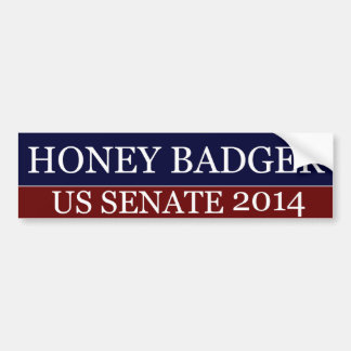 Honey Badger for Senate Bumper Sticker