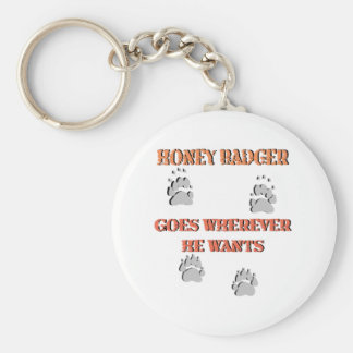 Honey Badger goes where he wants Keychain