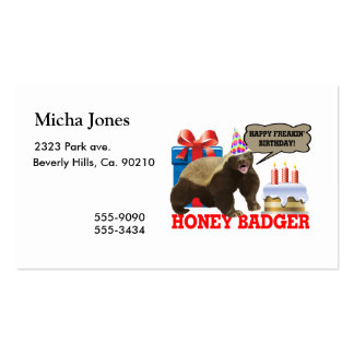 Honey Badger Happy Freakin' Birthday Business Card