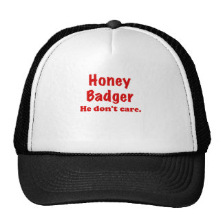 Honey Badger He Dont Care Mesh Hats