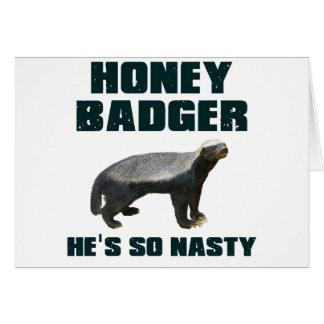 Honey Badger He s So Nasty Greeting Cards