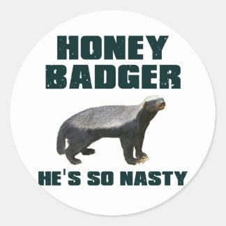 Honey Badger He s So Nasty Sticker