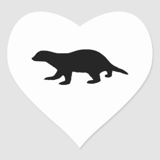 Honey Badger Heart Sticker