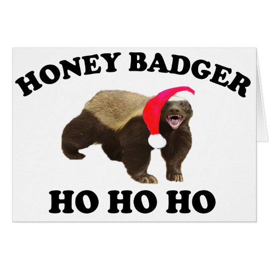 Honey Badger HO HO HO Card