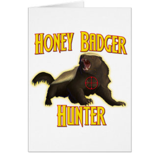 Honey Badger Hunter Card