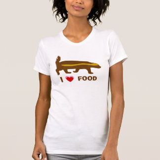 honey badger I love food T-Shirt