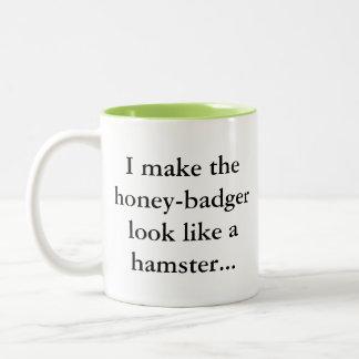 Honey Badger is a Hamster... Sassy Fun Gamer Two-Tone Coffee Mug