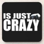 Honey Badger Is Just Crazy Cork Coaster