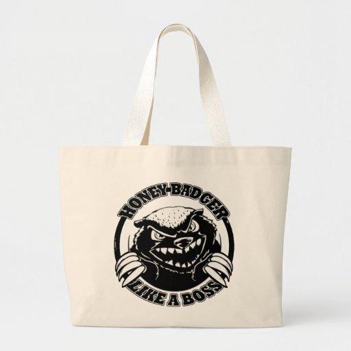 Honey Badger Like A Boss Canvas Bag