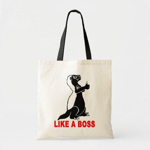 Honey badger, like a boss tote bag