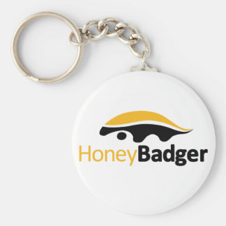 Honey Badger Logo Keychain