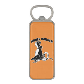 Honey badger magnetic bottle opener